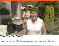 Consumenten worden producenten